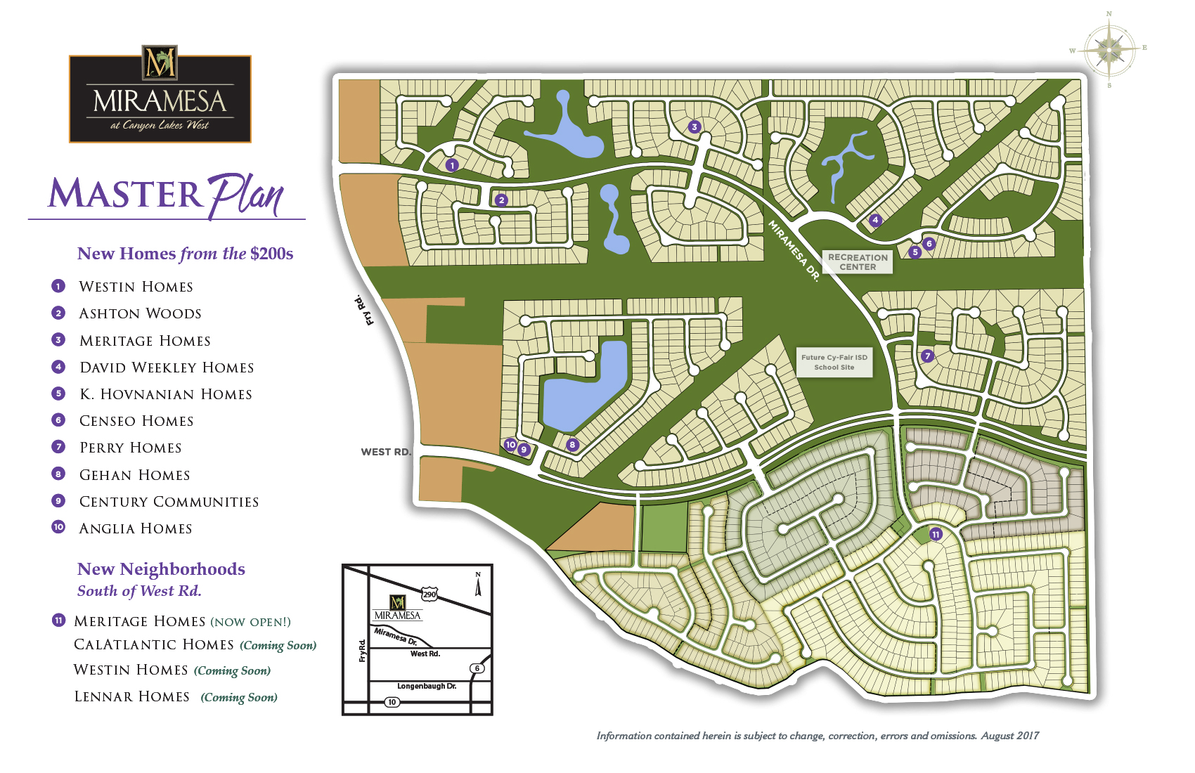 New construction homes in cypress tx miramesa model home map malvernweather Gallery